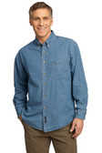 Port & Company - Long Sleeve Value Denim Shirt. SP10