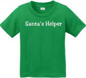 Joe's USA - Santa's Helper Infant Soft and Cozy Cotton T-Shirts