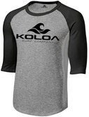 Koloa Surf Co. Wave Logo Raglan 3/4 Sleeve Shirt