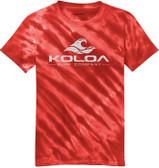 Red tie-dye / White logo