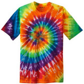 Koloa Surf Co. Colorful Tie-Dye T-Shir Rainbow tie-dye