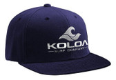 Koloa Surf Navy Snapback Hat with White Embroidered Classic Wave Logo