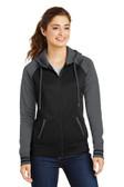 Sport-Tek Ladies Sport-Wick Varsity Fleece Full-Zip Hooded Jacket. LST236.