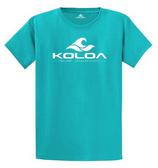 Bright Aqua / White logo