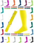 Joe's USA Intermediate Baseball Belt And Sock Combo - Neon Yellow
