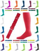 Joe's USA Adult Baseball Belt And Sock Combo - Scarlet Red