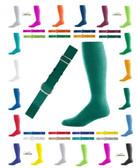 Joe's USA Adult Baseball Belt And Sock Combo - Dark Forest Green