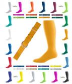 Joe's USA Adult Baseball Belt And Sock Combo - Gold