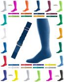 Joe's USA Adult Baseball Belt And Sock Combo - Navy