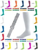 Joe's USA Adult Baseball Belt And Sock Combo - Silver Grey