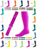 Joe's USA Adult Baseball Belt And Sock Combo - Hot Pink