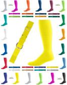 Joe's USA Adult Baseball Belt And Sock Combo - Neon Yellow