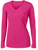 Ladies Long Sleeve Moisture Wicking Athletic Shirts in Sizes XS-4XL