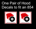 01. WHEEL HORSE LOGO DECALS VARIOUS SIZES