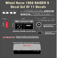 1968 RAIDER 9 COMPLETE DECAL SET