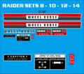 1970, 71 & 72 RAIDER SETS