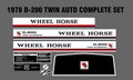 1978 THROUGH 1981  D-160 D-200 TWIN AUTOMATIC WHEEL HORSE DECALS