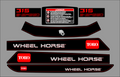 2002 WHEEL HORSE 315-8 SEVEN PC.  HOOD AND FENDER SET