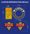 CLINTON ENGINE DECALS