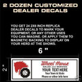 CUSTOM RETRO DEALER DECALS DESIGN 2