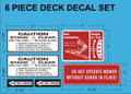 MOWER DECK DECAL KIT FOR WHEEL HORSE