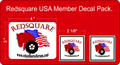 RED SQUARE MEMBER USA DECAL 3 PACK