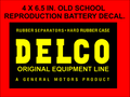 REPRODUTION OLD VINTAGE DELCO BATTERY LABEL