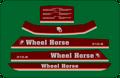 WHEEL HORSE 300 400 series HOOD AND FENDER SET 308-8 310-8 312-8 312-A 314-8 316-8 408-8 410-8 412-8 414-8 416-8 416-H 417-A 417-H 418-8 418-A 418-C 418-H