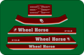 WHEEL HORSE 310-8, 312-8, 312-A, 314-A, 314-8, 316-8, 414-8, 416-8, 417-8, 416-H, 417-8, 417-A, 418-8, 418-A, 418-C 5 PC DECAL SET