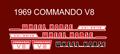WHEEL HORSE 1969 COMMANDO V8 DECAL SET