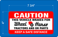 WHEEL HORSE CAUTION NOVELTY DECAL