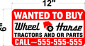 1 PAIR OF LARGE WANTED TO BUY WHEEL HORSE DECALS