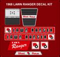 1968 LAWN RANGER DECAL SET