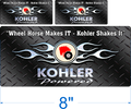 Wheel Horse Makes It - Kohler Shakes It decal 3 pack