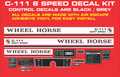 C-111 8 SPEED REPRODUCTION DECAL KIT