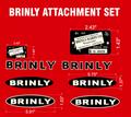 VINTAGE BRINLY ATTACHMENT DECAL SET