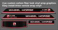 c-85 through c-195 CARBON FIBER CUSTOM  LOOK BLACKHOOD 4 PC DECAL SET