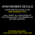 WHM DECALS