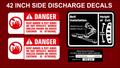 42 INCH SIDE DISCHARGE DECK DECALS 1990