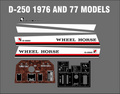 1976 AND 77 D-250 REPRODUCTION  DECAL SET HOOD, SEAT, DASH AND TUNNEL PLATE