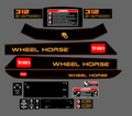 1996 WHEEL HORSE 312-8 COMPLETE DECAL SET