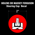 BOLENS HUSKY MAN STEERING CAP DECAL