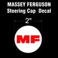 MASSEY FERGUSON RED ON WHITE STEERING CAP DECAL