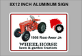 Wheel Horse Aluminum Sign