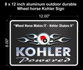 Wheel Horse / Kohler Aluminum Sign