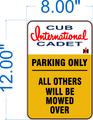Cub Cadet Parking Aluminum Signs