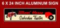 Suburban 400 Wheel Horse Aluminum shop or street sign.