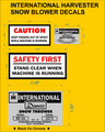 CUB CADET INTERNATIONAL HARVESTER DANCO SNOW BLOWER REPRODUCTION DECALS
