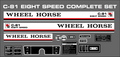 1978 - 1981 Wheel Horse C-81 EIGHT SPEED REPRODUCTION DECAL KIT