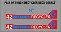 RECYCLER DECK DECALS